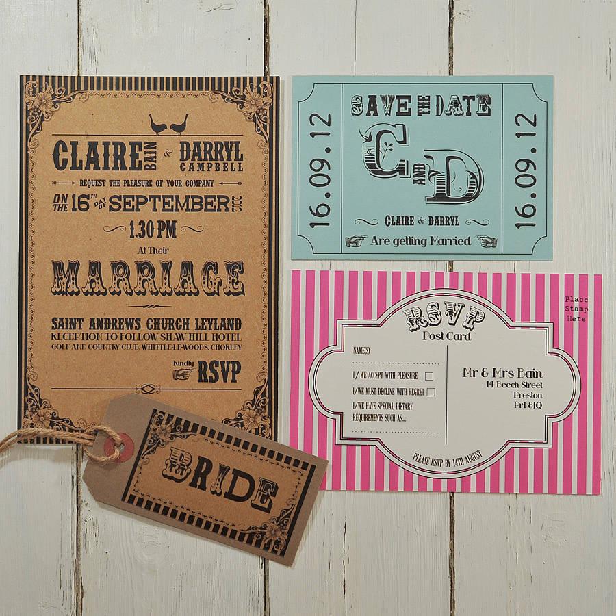 humorous wedding invitations wedding stationery carnival fun wedding invitation