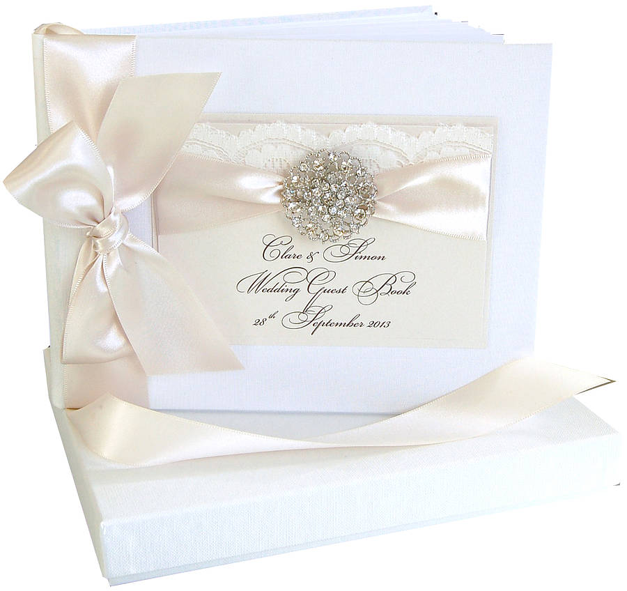 opulence wedding guest book personalised by made with love designs