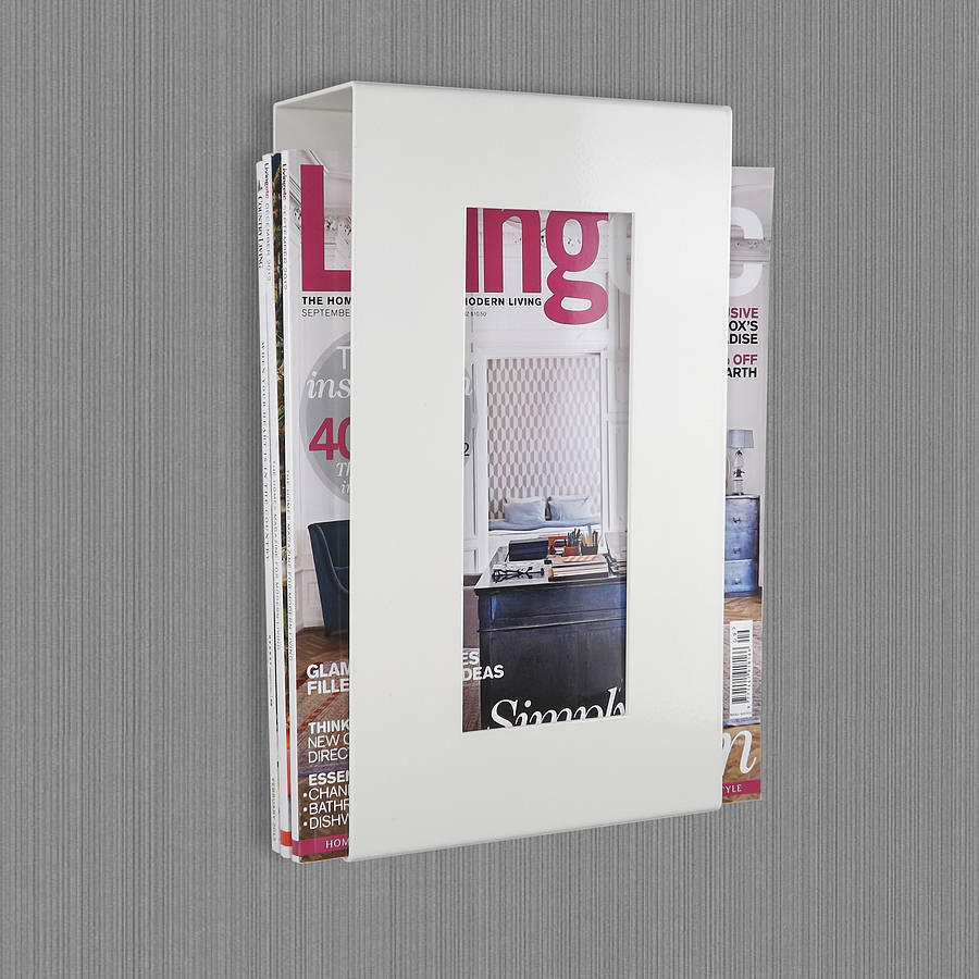 Wall Mounted Magazine Storage Rack By The Metal House