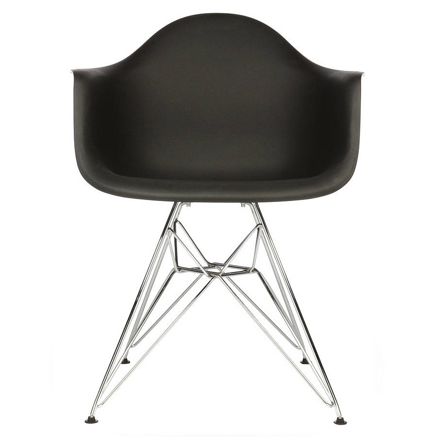 Eames Eiffel Chair, Eames Style, Chrome Eiffel Dining Chair By Ciel