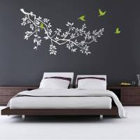 wall stickers: spring branches white by zazous ...