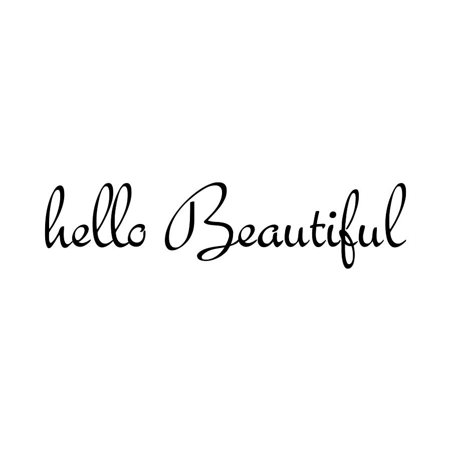 Black Pink And Silver Wallpaper Hello Beautiful Wall Sticker By Nutmeg
