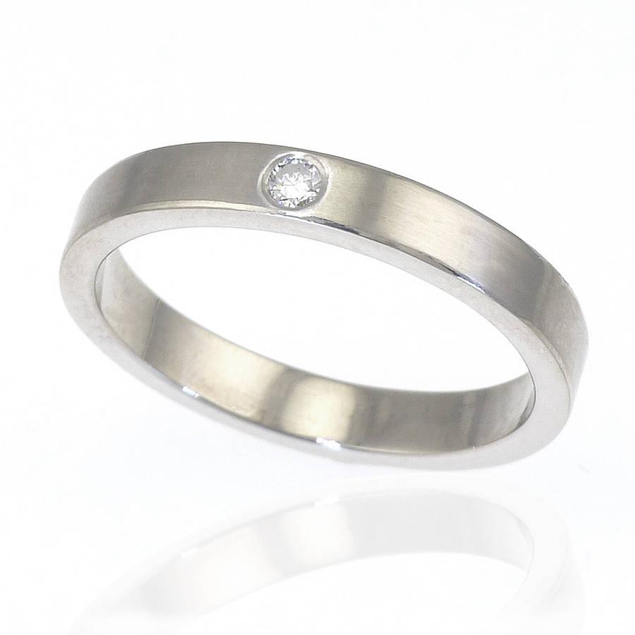 diamond silver band ring silver diamond wedding rings Diamond Wedding Ring In Sterling Silver