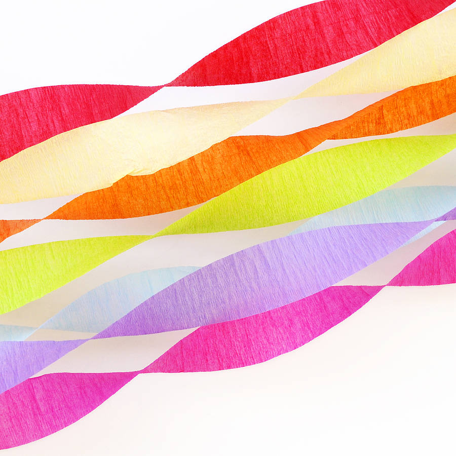 Set Of Three Crepe Paper Streamers By Peach Blossom
