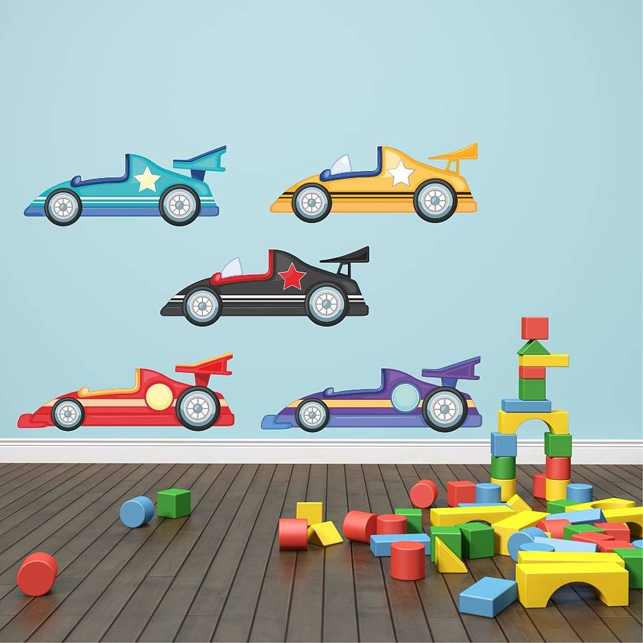 Race Car Bedroom Wallpaper Murals Racing Cars Wall Stickers By Mirrorin Notonthehighstreet Com