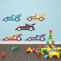 racing cars wall stickers by mirrorin | notonthehighstreet.com