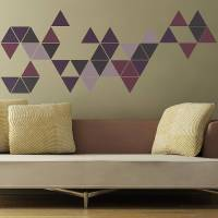 geometric triangles wall stickers by the binary box ...