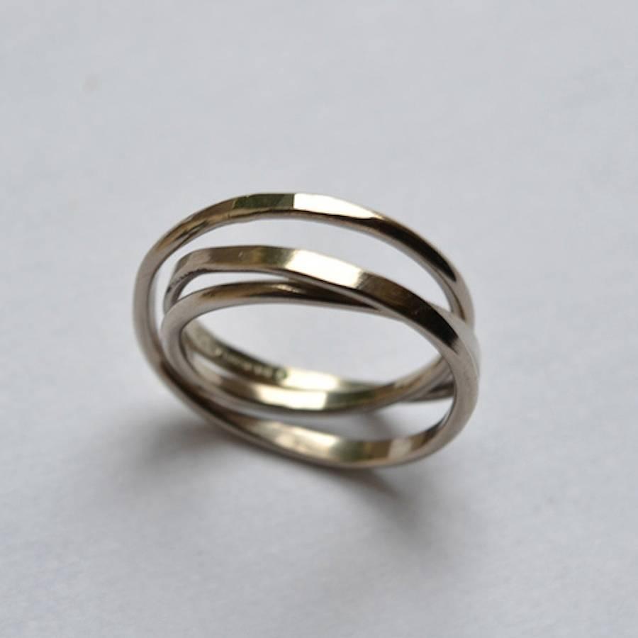 handmade cosmic wedding ring handmade wedding rings 18 Carat White Gold Handmade Cosmic Wedding Ring