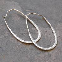 sterling silver oval hoop earrings by otis jaxon silver ...
