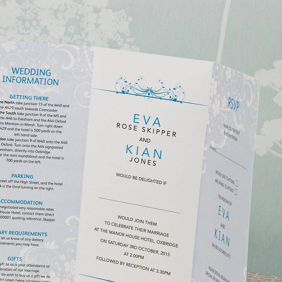 How To Make 3 Fold Wedding Invitations Invitationsweddorg