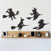 halloween witches wall sticker set by oakdene designs ...