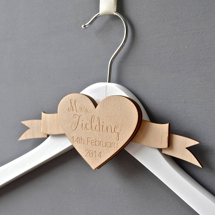 wedding dress coat hanger with name wedding hangers Personalised Engraved Wedding Dress Hanger