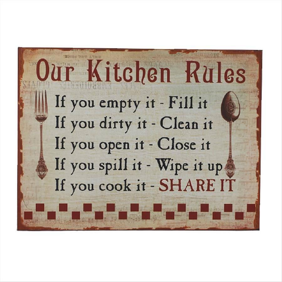 Marvelous ... Original_vintage Kitchen Rules Sign Jpg. Download