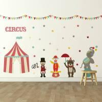 'children's circus' wall sticker set by oakdene designs ...