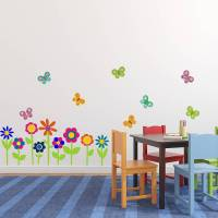 flowers and butterflies wall stickers by mirrorin ...