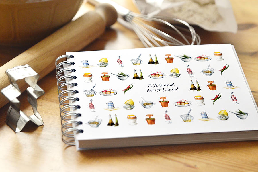 personalised recipe journal by amanda hancocks notonthehighstreet - recipe journals