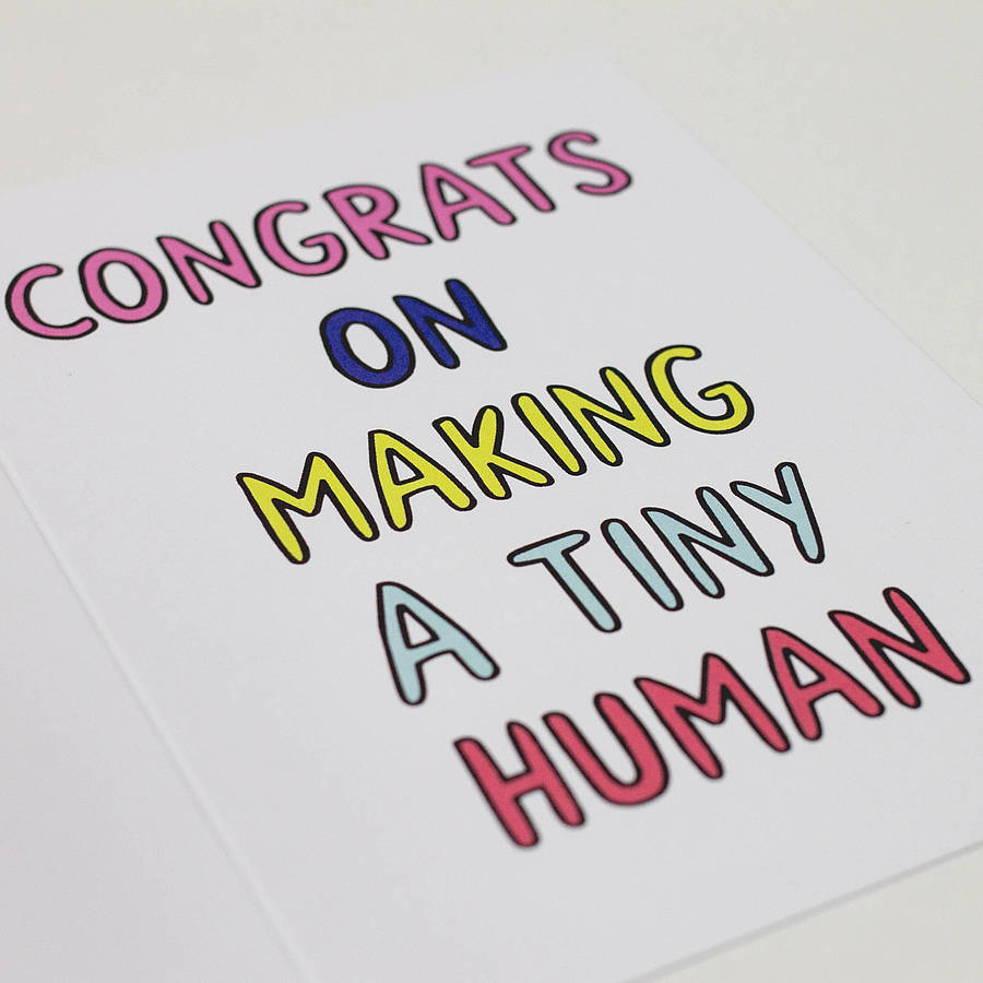 Creative On Making A Tiny Baby Congrats On Making A Tiny Baby Card By Veronica Dearly Congrats On Baby Number 2 Congrats On Baby Boy Gif baby shower Congrats On Baby
