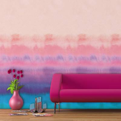rainbow watercolour self adhesive wallpaper by oakdene designs | notonthehighstreet.com