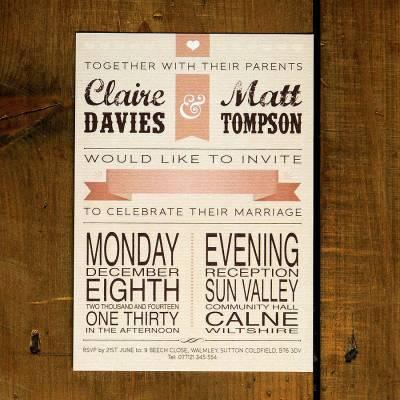 vintage poster wedding invitation by feel good wedding ...