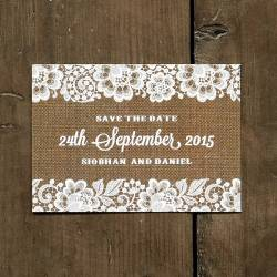 Small Crop Of Burlap And Lace Background