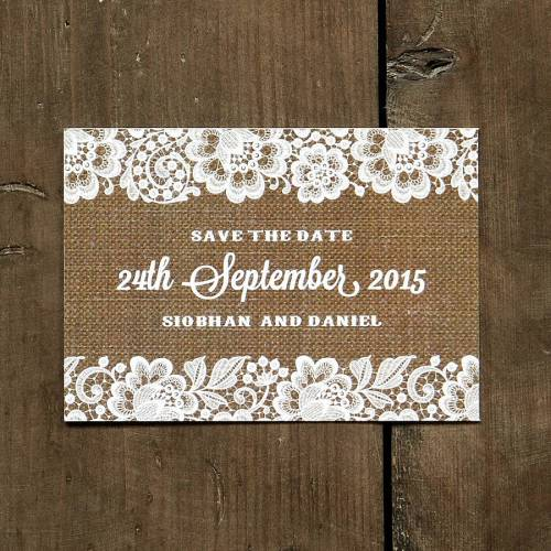Showy Lace Background Burlap Lace Background Image Vintage Lace Save Date Card Burlap Background Vintage Lace Save Date Card Or Magnet By Feel Good Wedding Blank Burlap