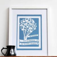personalised anniversary gift wall art print by ant design ...