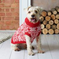 traditional christmas nordic knitted dog jumper by ...