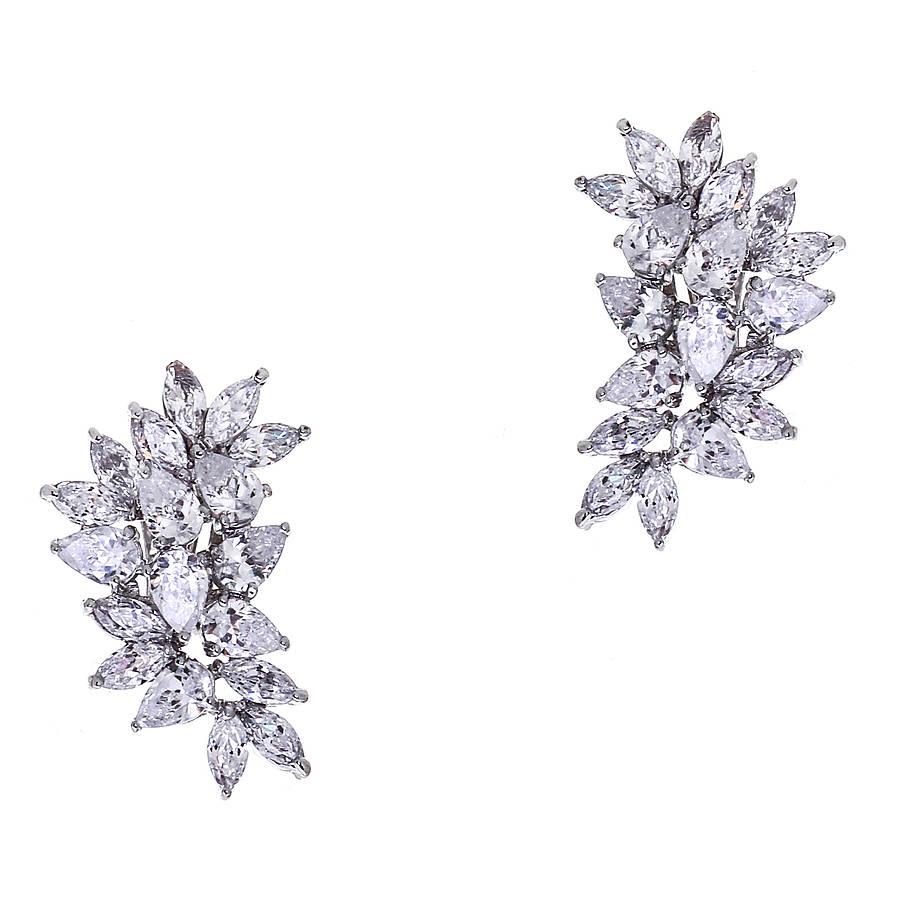 hattie statement crystal wedding earrings wedding earrings Hattie Statement Crystal Wedding Earrings
