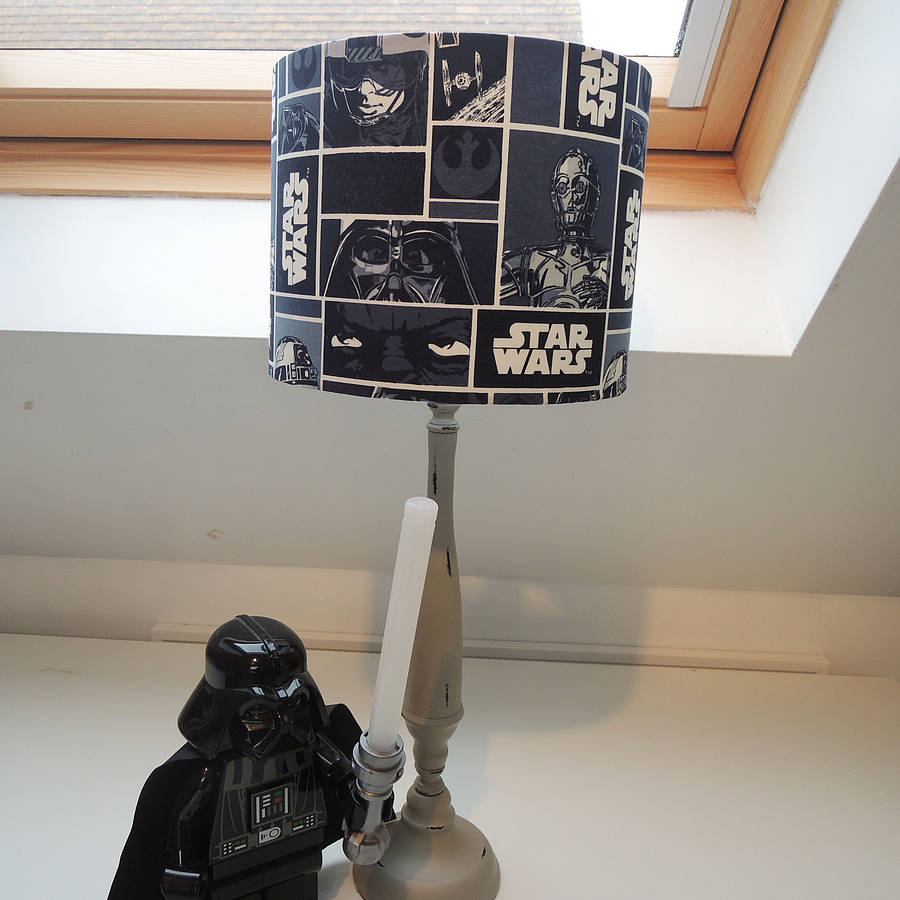 Handmade Lampshade In Star Wars Fabric By The Shabby Shade