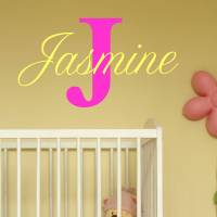 baby girl name wall stickers by wall art quotes & designs ...