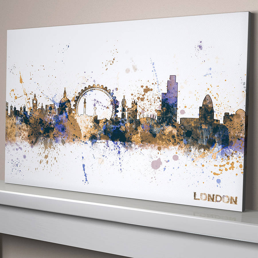 Supple G Blue Large Canvas London City Skyline Cityscape By Artpause Large Canvas Art Ideas Large Canvas Art Nz art Large Canvas Art
