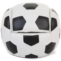 kids football chair with foot stool by hibba toys of leeds
