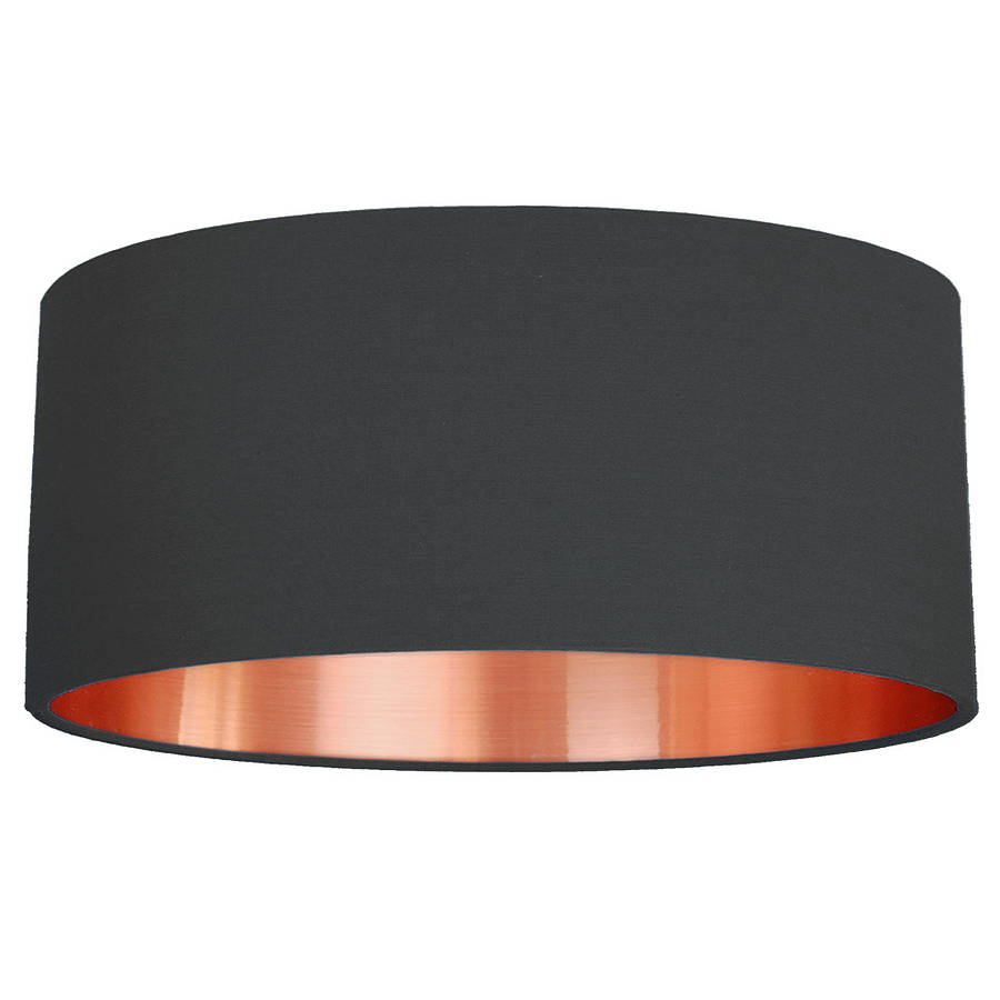 Xxl Lampenschirm Brushed Copper Lined Lamp Shade Choice Of Colours By Quirk