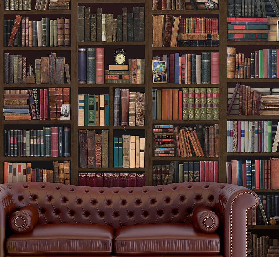Iphone Christmas Shelf Wallpaper Bookcase Self Adhesive Wall Mural By Oakdene Designs