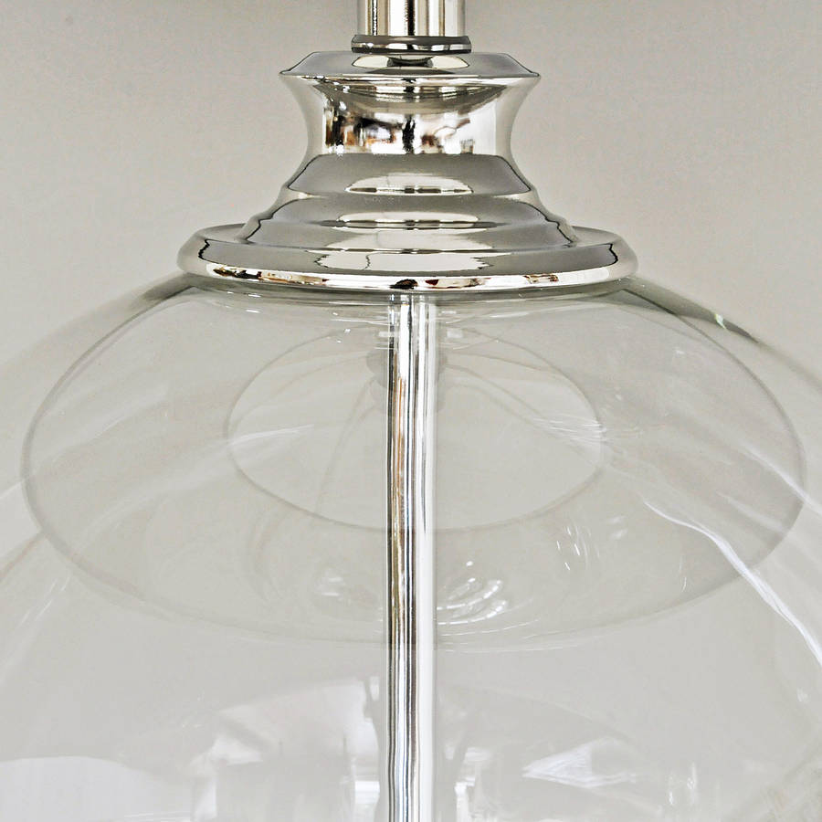 Glass Jar Lamp Shade Glass Ball Table Lamp And Grey Shade By Primrose Plum