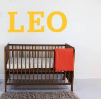large letter wall sticker by little chip ...