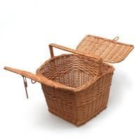 large wicker picnic hamper basket by prestige wicker ...