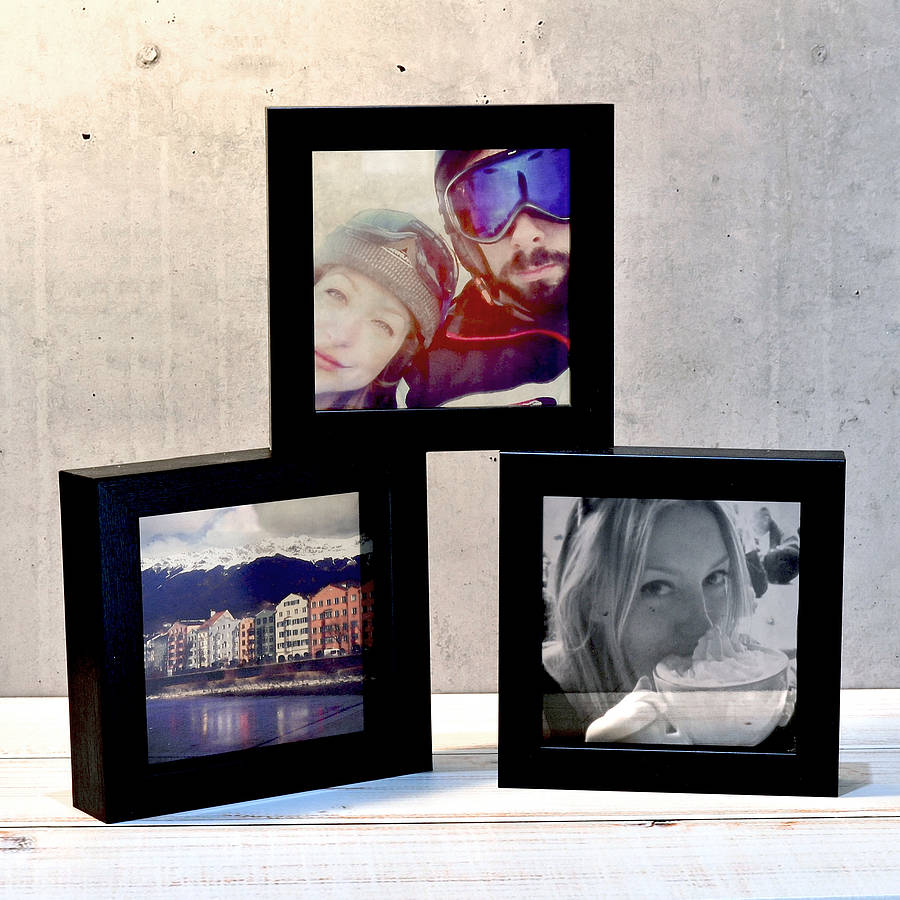 Personalised Transparent Photo Print With Frame By Oakdene