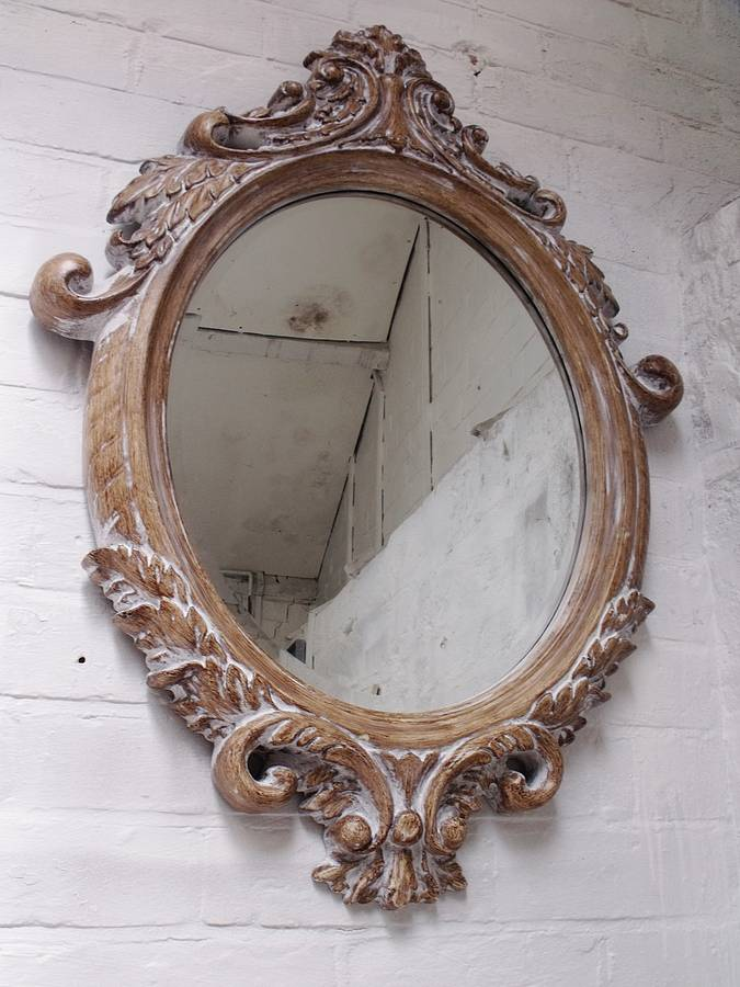 Bathroom Mirror Zoom Oval Bevelled Ornate Mirror By Hand Crafted Mirrors