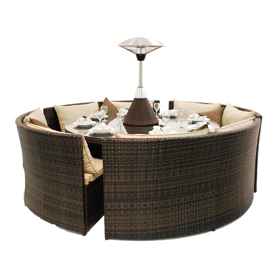 Rattan Round Table Dining Sofa Set By Out There Exteriors