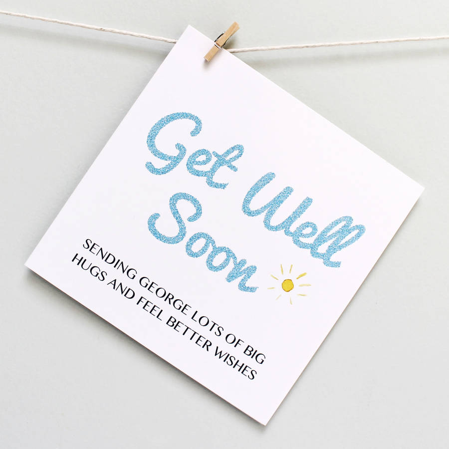 Cushty Personalised Get Well Soon Card Personalised Get Well Soon Card By Martha Brook Get Well Card Template Get Well Cards Diy cards Get Well Card