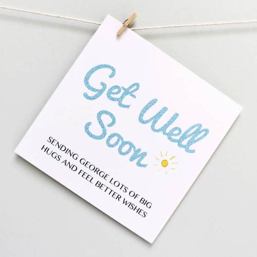 Cushty Personalised Get Well Soon Card Personalised Get Well Soon Card By Martha Brook Get Well Card Template Get Well Cards Diy