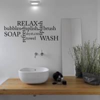 bathroom word cloud wall sticker by mirrorin ...