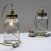 bespoke kilner jar table lamp by unique's co ...