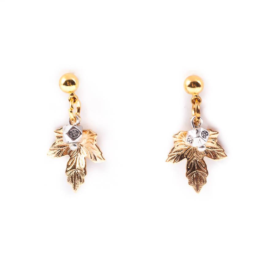 maple leaf earrings by francesca rossi designs