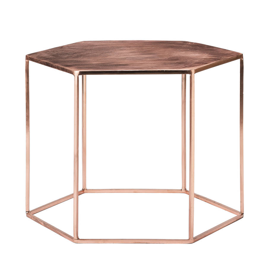 Couchtisch Modern Eckig Copper Plated Hexagonal Coffee Table By Out There