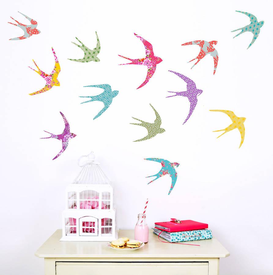 shanghai birds wall stickers by koko kids