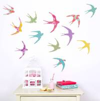 shanghai birds wall stickers by koko kids