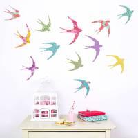 shanghai birds wall stickers by koko kids ...