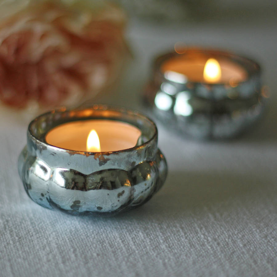 Mini Mercury Teal Tea Light Holder By The Wedding Of My